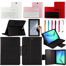 "For Samsung Galaxy Tab 8.0"" 9.7"" 10.1"" Removable Bluetooth Keyboard Case Cover"
