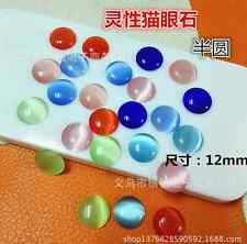 NEW! Half Round Cat's Eye Bead Scrapbook DIY for Craft Pick 6-8-10-12mm 11colors