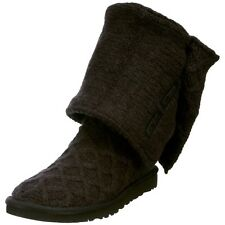 Ugg Australia Womens Classic Cardy Wool Knit Boots Black