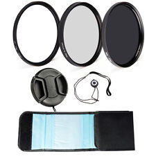 Neutral Density ND8+CPL Round Polarizing Filter+UV Camera Filter Kit for DSLR
