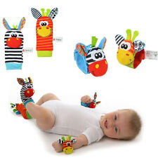 NEW Lovely Infant Baby Kids Animal Hand Wrist Bells Foot Sock Rattles Soft Toys