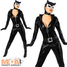 Sexy Catwoman Ladies Fancy Dress Batman Comic Superhero Adults Womens Costume