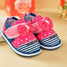 Fashion Infant Baby Girls Cotton Shoes Toddler Princess Squeaky Shoes