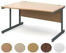 Contract 25 Left Hand Wave Desk | 1400mm Wide | White,Walnut,Beech,Oak and Maple