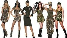 Sexy Army Military Girl Fancy Dress Oufit Costume Hen Do Valentines Day Combat