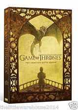 GAME OF THRONES SEASON 5 COMPLETE DVD BOX SET SERIES HBO BRAND NEW