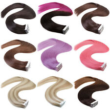 6A Grade Remy Tape Hair Skin Weft Human Hair Extensions 100% Indian Virgin Hair