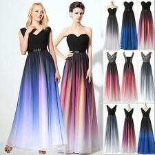 Long Chiffon V Neck Bridesmaid Evening Prom Pageant Gown Formal Dress Plus Size
