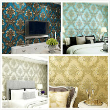 Relief Damask 3D 10m Wallpaper Embossed Rolls Damascus Nonwoven Modern Luxury