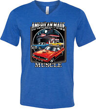 Plymouth Barricuda Mens American Made Muscle Tri Blend V-Neck T-Shirt