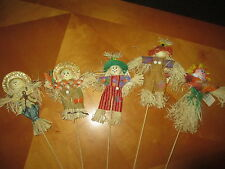 Fall Decor Home Elements Harvest Scarecrow Picks - Choose Your Scarecrow NEW