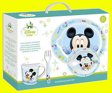 Disney Baby Kids Boys Blue 5 Piece Microwavable Dinner Set - Mickey Mouse Baby