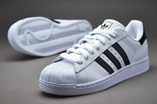 ADIDAS MENS SUPERSTAR II 2 ORIGINALS TRAINERS WHITE BLACK NAVY SNEAKERS SIZE NEW