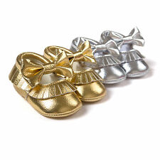Golden Tassels Bow Hollow Design Baby Shoes Princess Shoes Baby Shoes