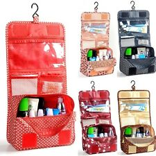 Travel Cosmetic Makeup Toiletry Pruse Wash Organizer Storage Hanging Bag Case