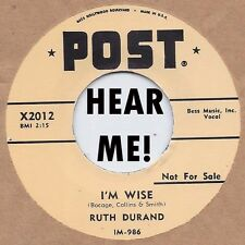 R&B REPRO: RUTH DURAND - I'm Wise/Tin Can Alley POST