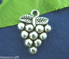 Gift Wholesale Silver Tone Grape Charms Pendants 19x14mm