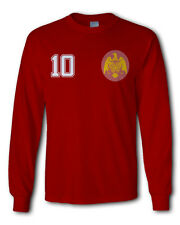 Men's Spain Espana retro 60s long sleeve tee t-shirt jersey football soccer euro