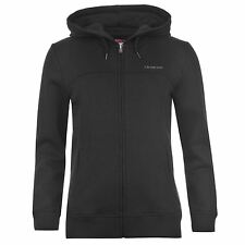 LA Gear Full Zip Hoody Womens Black Hooded Sweater Jacket