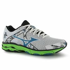 Mizuno Inspire 10 Running Shoes Womens White/Blue/Green Trainers Sneakers