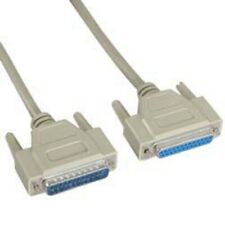 6 15 25ft DB25 DB 25 IEEE1284 25-Pin Male to Female M/F Parallel Extension Cable