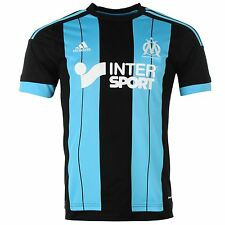 Adidas Olympique de Marseille Away Jersey 2015 2016 Mens Black/Blue Shirt Top