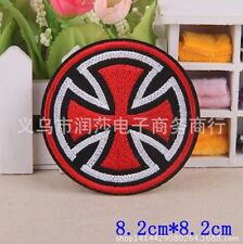 red embroidered patch iron/sew on diy Cloth badge bag applique Fabric Jacket jy