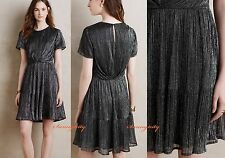 NWT sz S M Anthropologie Gavenia Dress by Harlyn, Metallic Gorgeous and Vintage