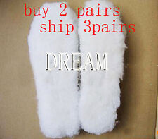 Genuine Wool Fur Sheepskin Insoles Replacement UGG Boots Shoes Rain US 5-13