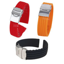Mens Waterproof Sports Diver Silicone Rubber Watch Strap Band Bracelet 18mm-24mm
