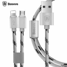 BASEUS 2in1 1.2M USB Sync Data Cable + Micro USB Charging Sync Data Cable Cord