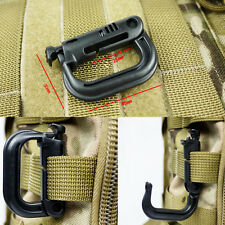 Fashion 1PCS D-ring Molle Lock Webbing Buckle Barabiner Climb Backpack Hook Tool