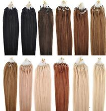 18''20''22'' Loop Micro Ring Beads Tipped Straight Remy Human Hair Extensions 5A