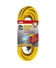 25-100Ft 12 Gauge Indoor Outdoor Heavy Duty Power Extension Cord Cable w/ Light