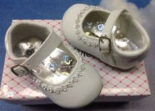 Girls White Patent Buckle Mary Janes Dress Shoes Infant Size 3 to Toddler Size 8