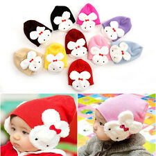 Baby Rabbit Hats Toddler Kids Winter Ear Flap Warm Hat Beanie Cap Crochet FM87