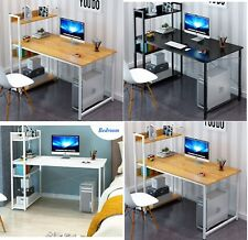 Home Office Study Work Station Computer Desk Table Storage Book Shelf Organiser
