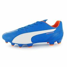 Puma evoSpeed 3 FG Firm Ground Football Boots Mens Blue/Orange Soccer Cleats