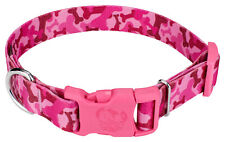 Country Brook Design® Pink Bone Camo Patterned Dog Collar with Pink Buckle