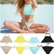 Handmade Sexy Women Crocheted Weave Bikini Set Beach Swimwear Bathing Swimsuit