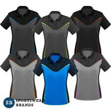 Ladies Victory Polo Shirt Womens Sports Work Top Fluoro Size 8-24 New P606LS