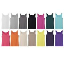 10-Pack: Women's Ribbed Cotton Tank Tops in Assorted Colors