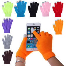 Soft Winter Unisex Touch Screen Gloves Texting Outdoor Smartphone Knit A12