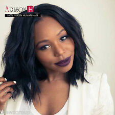7A Natural Wave Lace Front Wig Short Bob Human Hair Glueless Full Lace Wigs