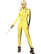 Adult Sexy Yellow Kill Bill Jumpsuit Ladies Fancy Dress Costume Party Outfit