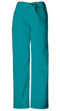 Scrubs Cherokee Workwear Men's Drawstring Cargo Pant Tall 4100T TLBW Teal Blue