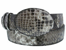 mens all real python snake skin leather belt cowboy western rodeo buckle exotic