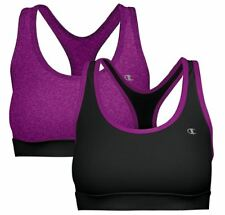 Champion Ladies Sports Bra 2-pack Raspberry & Black Racerback Fitness Workout