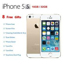 "Apple Smart Phone iPhone 5S 4G LTE Factory Unlocked 4"" 32GB/16GB Gold O3I6"