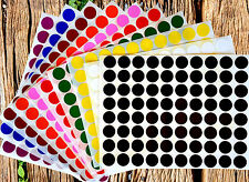 """Color Coding Labels 1/2"""" Round 10 colors available 400 pack 5 sheets"""